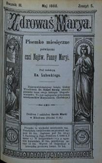 Zdrowaś Marya, 1888, R. 3, nr5