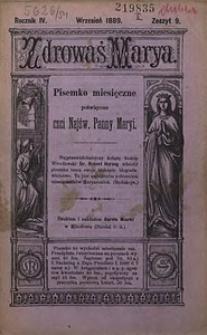 Zdrowaś Marya, 1889, R. 4, nr9