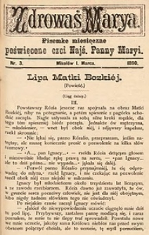 Zdrowaś Marya, 1890, R. 5, nr3