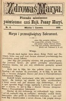 Zdrowaś Marya, 1890, R. 5, nr6
