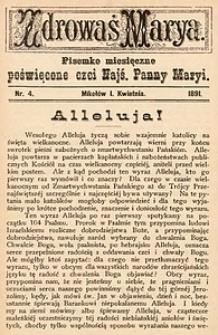 Zdrowaś Marya, 1891, R. 6, nr4