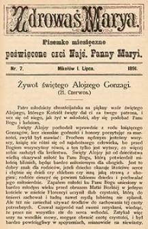 Zdrowaś Marya, 1891, R. 6, nr7