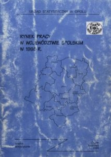 Rynek pracy w województwie opolskim w 1998 r.