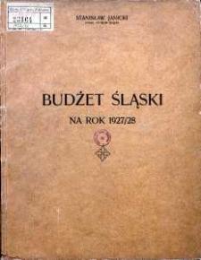Budżet Śląski na rok 1927/1928