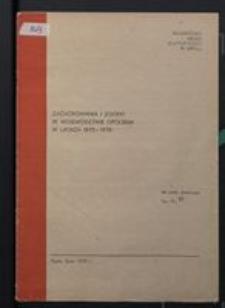 Zachorowania i zgony w województwie opolskim w latach 1975-1978