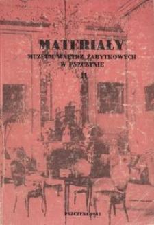 Materiały Muzeum Wnętrz Zabytkowych w Pszczynie, T. 2