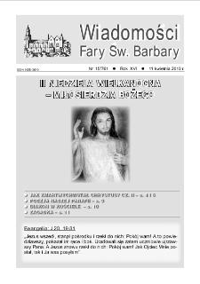 Wiadomości Fary Św. Barbary, R. 16, nr 15 (761), 2010