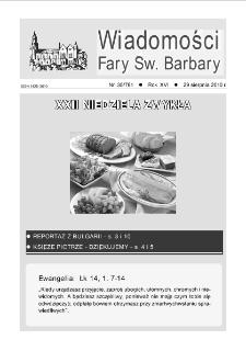 Wiadomości Fary Św. Barbary, R. 16, nr 35 (781), 2010