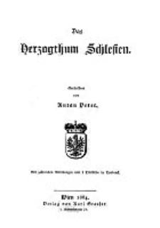 Das Herzogthum Schlesien