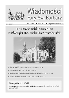 Wiadomości Fary Św. Barbary, R. 16, nr 44 (790), 2010