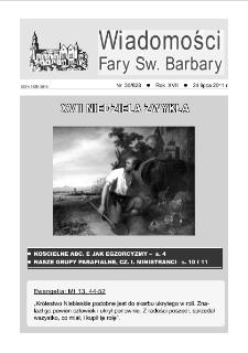 Wiadomości Fary Św. Barbary, R. 17, nr 30 (828), 2011