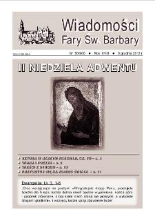 Wiadomości Fary Św. Barbary, R. 18, nr 50 (900), 2012