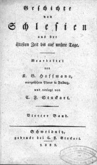Geschichte von Schlesien aus der altesten Zeit bis auf unsere Tage T.4
