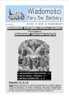 Wiadomości Fary Św. Barbary, R. 13, nr 43 (633), 2007
