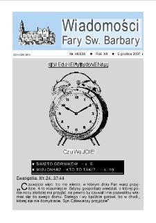 Wiadomości Fary Św. Barbary, R. 13, nr 48 (638), 2007