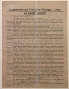 Towarzysze! Robotnicy! Warszawa, w kwietniu 1917 r. Zarząd Główny Socjaldemokracji Królestwa Polskiego i Litwy