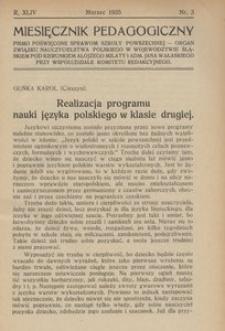 Miesięcznik Pedagogiczny, 1935, R. 44, nr 3
