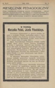 Miesięcznik Pedagogiczny, 1935, R. 44, nr 5
