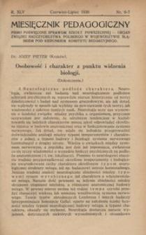 Miesięcznik Pedagogiczny, 1936, R. 45, nr 6/7