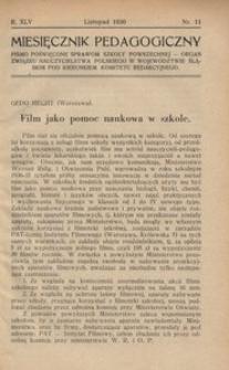 Miesięcznik Pedagogiczny, 1936, R. 45, nr 11