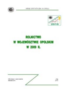 Rolnictwo w województwie opolskim w 2009 r.