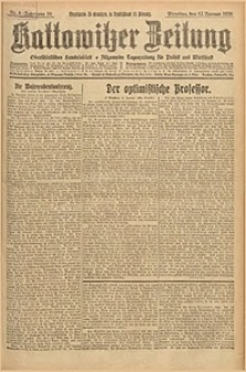 Kattowitzer Zeitung, 1926, Jg. 58, nr8