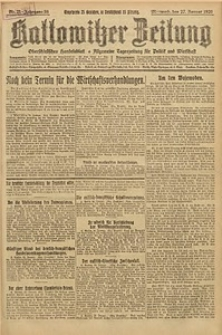 Kattowitzer Zeitung, 1926, Jg. 58, nr21