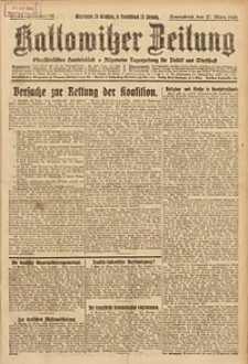 Kattowitzer Zeitung, 1926, Jg. 58, nr71