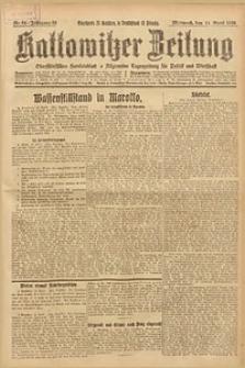Kattowitzer Zeitung, 1926, Jg. 58, nr84