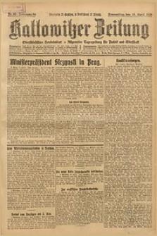 Kattowitzer Zeitung, 1926, Jg. 58, nr85