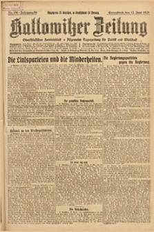Kattowitzer Zeitung, 1926, Jg. 58, nr131