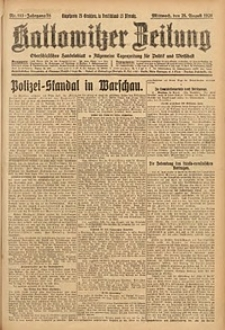 Kattowitzer Zeitung, 1926, Jg. 58, nr193