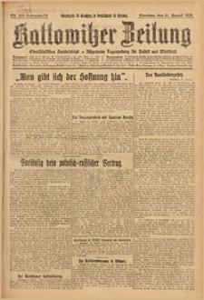 Kattowitzer Zeitung, 1926, Jg. 58, nr198