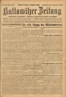 Kattowitzer Zeitung, 1926, Jg. 58, nr202