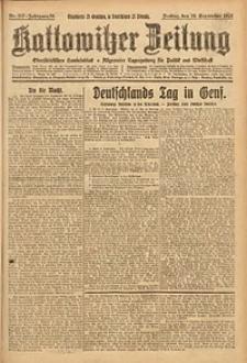 Kattowitzer Zeitung, 1926, Jg. 58, nr207