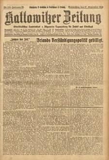 Kattowitzer Zeitung, 1926, Jg. 58, nr218