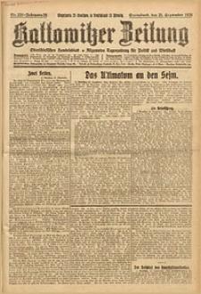 Kattowitzer Zeitung, 1926, Jg. 58, nr220