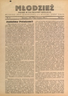 Młodzież, 1933, R. 2, Nr. 4
