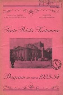Teatr Polski w Katowicach. 1933-1934. Program. Wielki koncert oratoryjny ku czci śp. Żwirki i Wigury