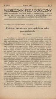 Miesięcznik Pedagogiczny, 1937, R. 46, nr 3