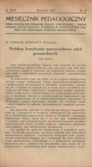 Miesięcznik Pedagogiczny, 1937, R. 46, nr 4
