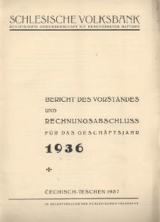 Bericht des Vorstandes und Rechnungsabschluss für das Geschäftsjahr 1936