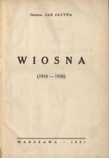 Wiosna (1918-1926)