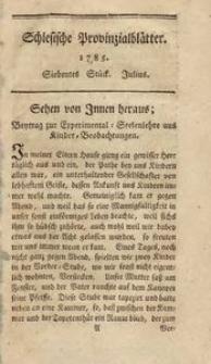 Schlesische Provinzialblätter, 1785, 2. Bd., 7. St.: Julius