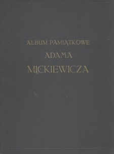 Album pamiątkowe Adama Mickiewicza