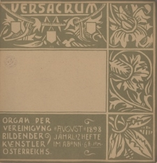 Ver Sacrum, 1898, R. 1, H. 8