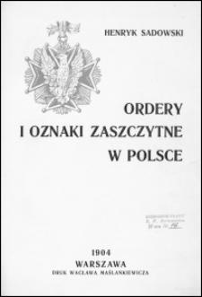 Ordery i oznaki zaszczytne w Polsce