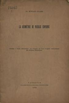 La géométrie de Nicolas Copernic