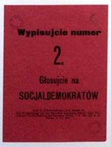 Wypisujcie numer 2. Głosujcie na Socjaldemokratów