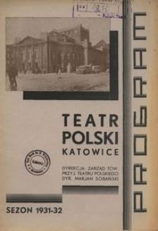 """Teatr Polski w Katowicach. 1931-1932. Program. """"Candida"""". Komedja w 3 aktach B. Shaw'a [!]"""